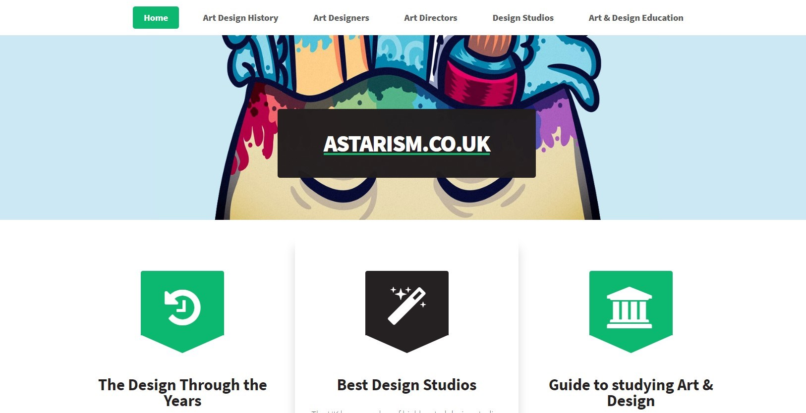 Astarism.co.uk landing page